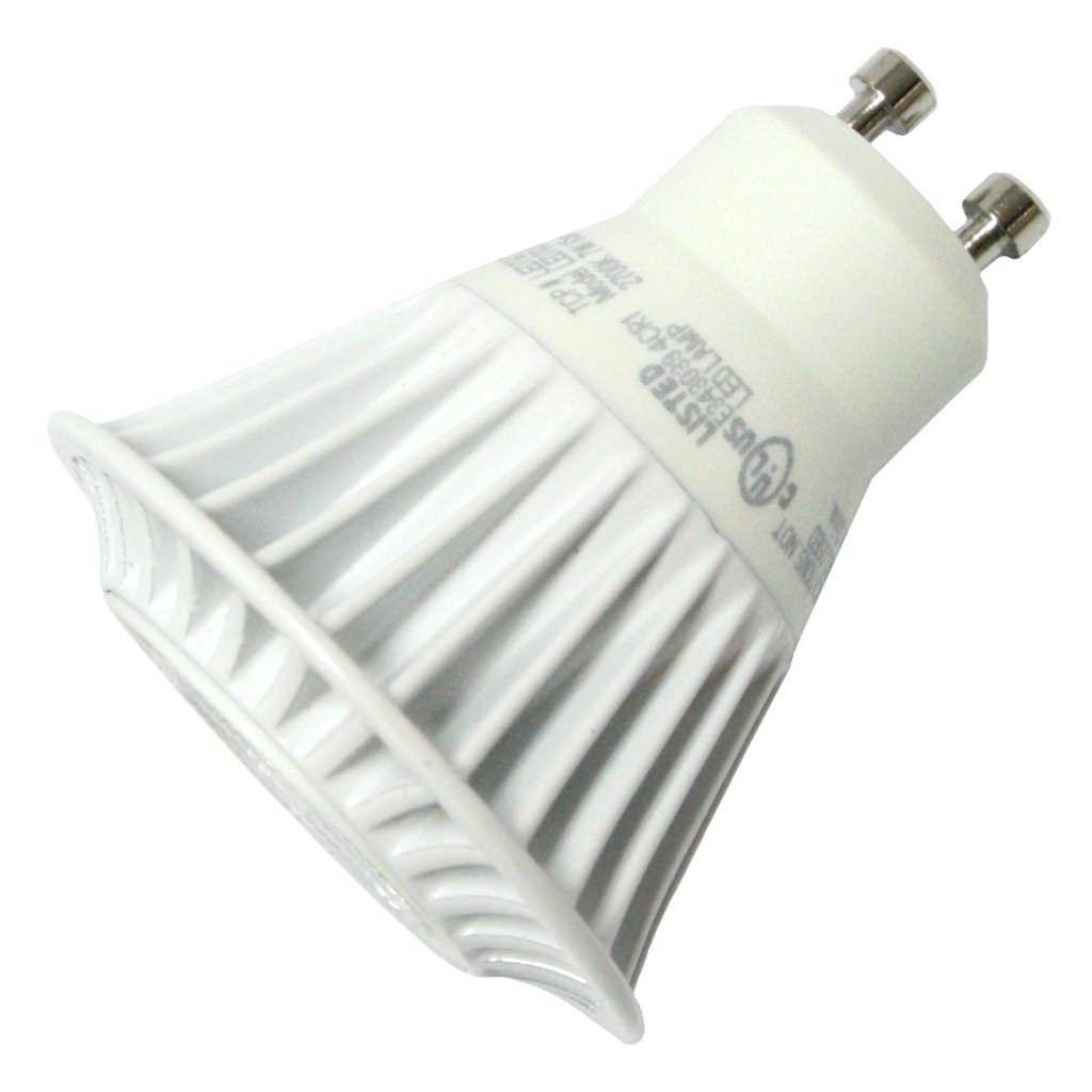 7 Watt 3000k Feit Led Dimmable Gu10 Base Mr16 Light Bulb: TCP LED7MR16GU1024KFL Dimmable LED GU10 Base MR16 7W 2400K
