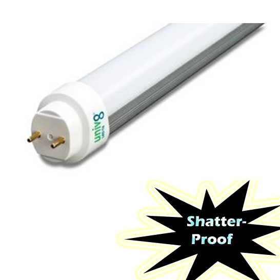 Forest Lighting UniV8 T8U435-15 LED T8 L& 3500K 15W DLC - 1/Ea  sc 1 st  LED T8 Tubes & Forest Lighting UniV8 T8U435-15 LED T8 4u0027 3500K No Rewiring 15W DLC