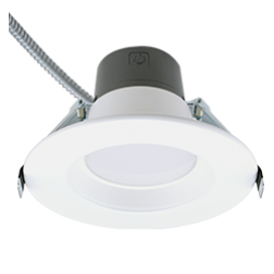 "Green Creative 57865 4"" LED Commercial Downlight 3500K 3-Light Levels - 1/Ea"