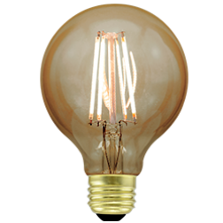 Green Creative 57894 4.5FG25DIM/824/A G25 Filament Vintage LED Bulb