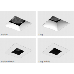 Ketra D3 Fixed Square Mud-In Tunable LED Downlight Fixture Color Changing