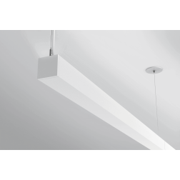 "Ketra L3I Indirect Linear LED Pendant 3"" Wide Tunable Fixture"