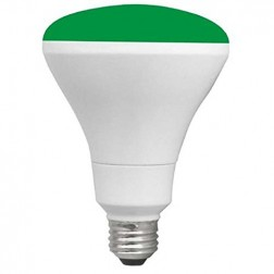 TCP RLBR3010WGR Green LED BR30 Lamp 10W Non-Dimmable