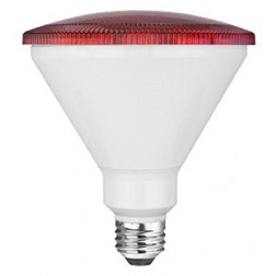 TCP RLP3814RD Red LED Colored PAR38 Lamp 14W Non-Dimmable