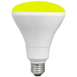 TCP RLBR3010WY Yellow LED BR30 Lamp 10W Non-Dimmable