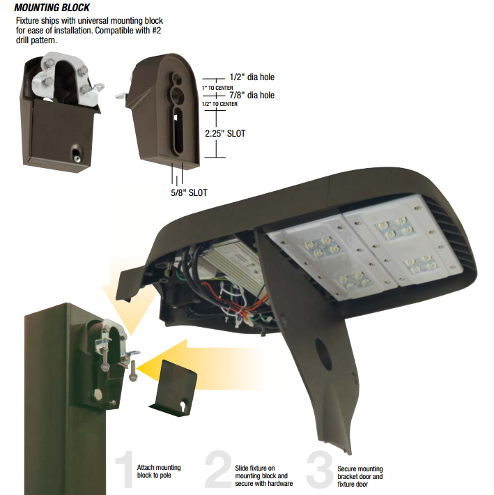 Hubbell Outdoor Lighting Asl Led Series Area Site Road