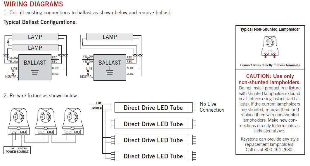 keystone-direct-drive-led-t5-wiring_1_1  Tube Led Light Wiring Diagram on