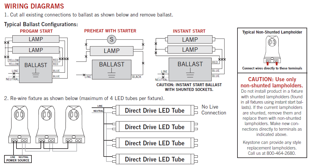keystone direct drive wiring lamp switch wiring diagrams do it yourself help readingrat net T8 Instant Start Ballast Wiring at mifinder.co