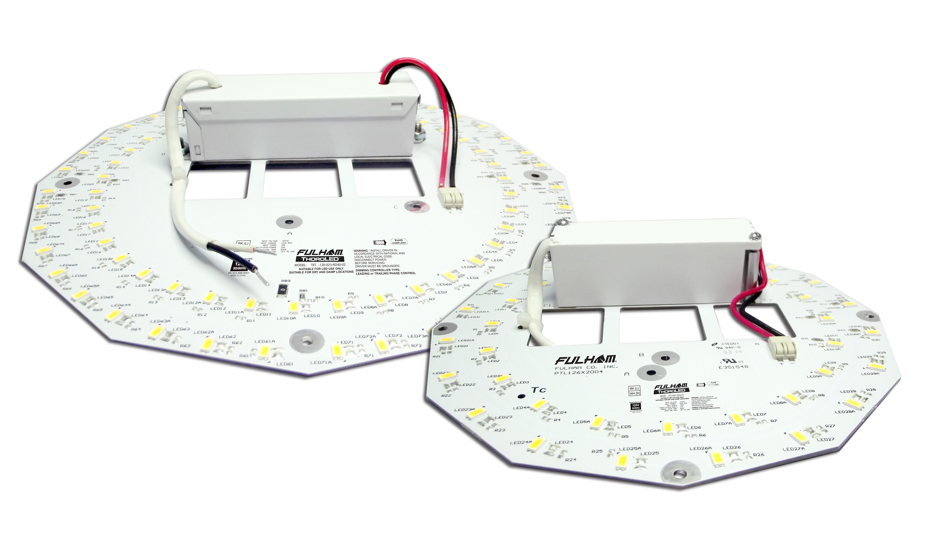 Replace Fluorescent Circline With 21w Fulham Led Round Retrofit Kits T5 Ballast Wiring Diagram 9 Kit 1 Ea