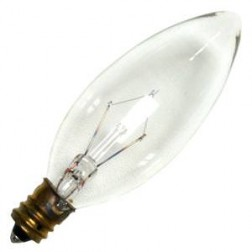 Westinghouse 03682 25ST/CL 25W Clear Torpedo Incandescent E12