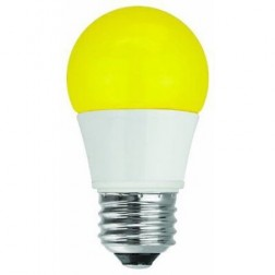 TCP RLA155Y Yellow LED Colored A15 Lamp 5W Non-Dimmable