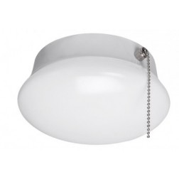 "7"" LED Spin Light 11.5 Watt 4000K Round Flushmount Lamp with Pull Chain"