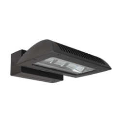 Above All Lighting V-Line LED Wallpack Fixture w/ Emergency Backup & Motion Sensor