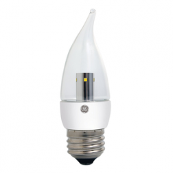 GE 75554 LED4DCAMCF/824 Clear E26 LED CA11 4W 2400K Dimmable
