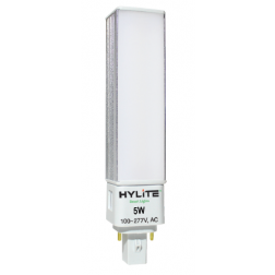 HyLite 77105 LED 2-Pin PL Replacement Bulb 5W HL-GX23F-5W-41K - 1/Ea
