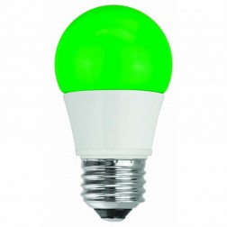 TCP RLA155GR Green LED Colored A15 Lamp 5W Non-Dimmable