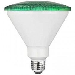 TCP RLP3814GR Green LED Colored PAR38 Lamp 14W Non-Dimmable