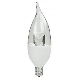 TCP LED5E12F1127K Dimmable LED Chandelier Bulb 5W 2700K Flame Tip