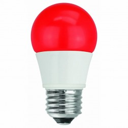 TCP RLA155RD RED LED Colored A15 Lamp 5W Non-Dimmable