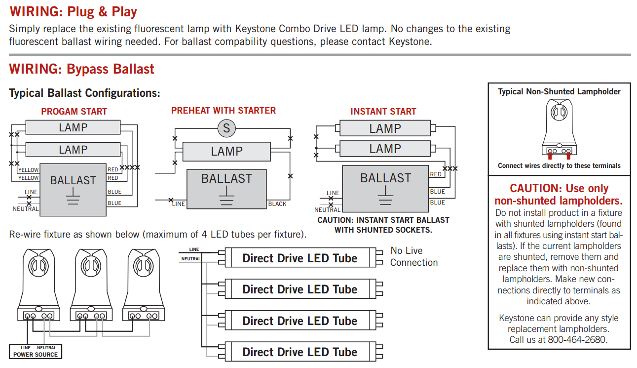 Wiring Diagram Two Prong Led T8 31 Images 4 Lamp Ballast Keystone Combo Drive 15w Glass Coated