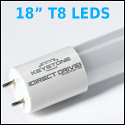 18 Inch LED T8 Direct Drive Lamps
