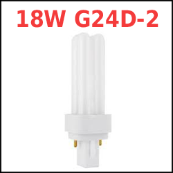18 Watt 2-pin G24D-2 Compact Fluorescent Plugin