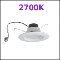 2700k LED Recessed Cans