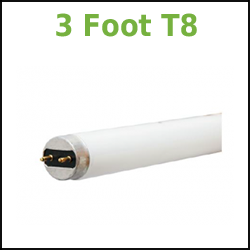 3 foot linear fluorescent T8 tubes