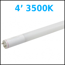 Any 4 foot 3500k T8 LED Retrofit tubes