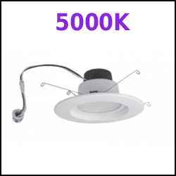 5000k LED Recessed Cans