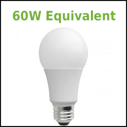 dimmable led a19 60w equivalents