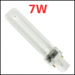 7 Watt 2-pin Compact Fluorescent Plugin