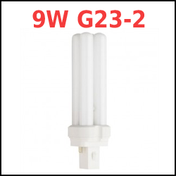 2-pin 9W G23-2 Base Compact Fluorescent Bulbs