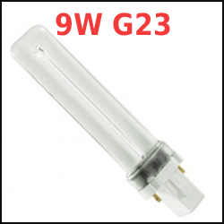 9 Watt G23 Base 2 Pin Compact Fluorescent