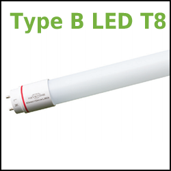 Keystone Type B LED T8 DirectDrive