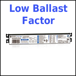 1-lamp Program Start T8 Ballasts Low Ballast Factor