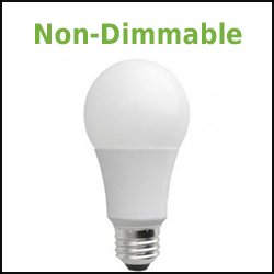 non dimmable led a19 lamps
