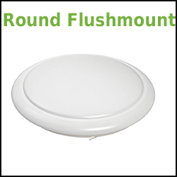 LED dimmable round flushmount fixture