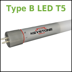 Type B LED T5 retrofit lamps no ballast