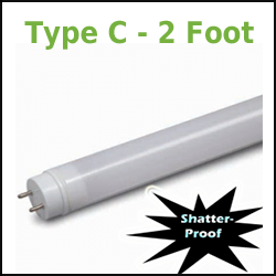 GE Type C T8 LED Tubes 2 Foot