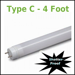 GE Type C T8 LED Tubes 4 Foot
