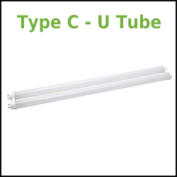 GE Type C T8 LED Tubes U Tube
